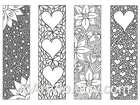 s bookmarks to print and color zentangle