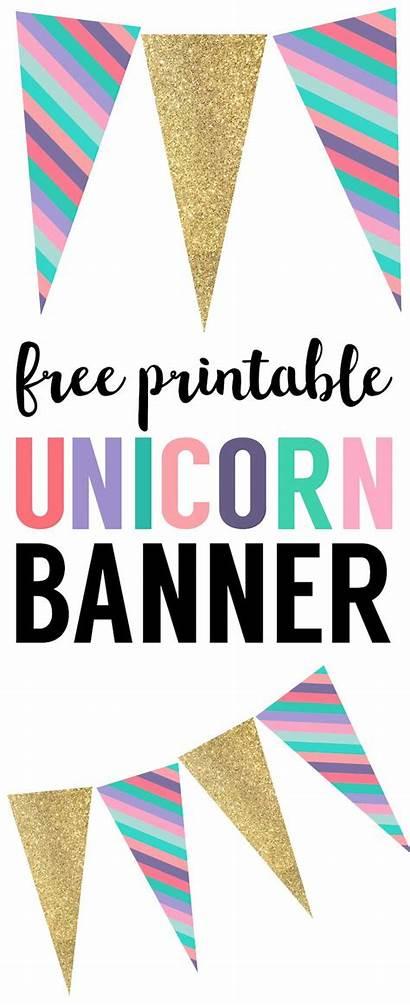Unicorn Banner Birthday Party Diy Decorations Printable
