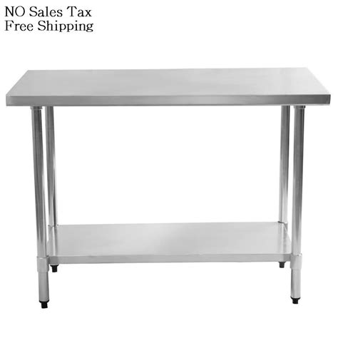 stainless steel kitchen island table 24 in x 48 in stainless steel utility table kitchen work