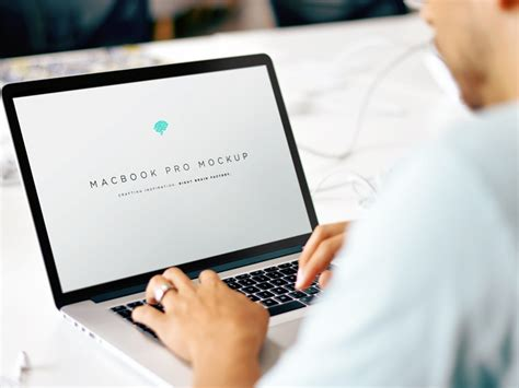 Logo printed on fabric mockup. Working on MacBook Pro Mockup | Mockup World