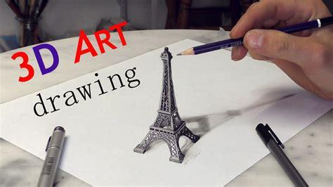 3d Zeichnen by Eiffel Tower 3d Drawing Solidarit 233