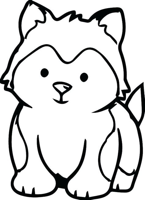 Husky Puppy Coloring Page Free Printable Coloring Pages