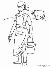 Colorear Coloring Dibujos Lechera Dibujo Colorare Maid Dibujar Disegno Melkmeisje Milking Maids Colorir Gratis Kleurplaat Pintar Kolorowanka Desenhos Dojarka Desenho sketch template