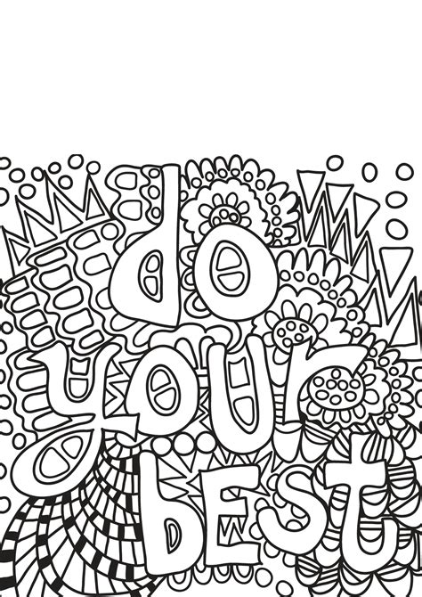 book quote  positive inspiring quotes adult coloring pages