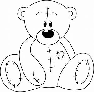 Teddy Bear Black And White Clipart | Free download best ...