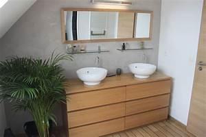 Catalogue Salle De Bains Ikea : commode malm ikea d tourn e en meuble de salle de bains double vasque d co pinterest malm ~ Dode.kayakingforconservation.com Idées de Décoration