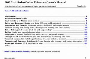 2009 Honda Civic Sedan Online Reference Owner U2019s Manual