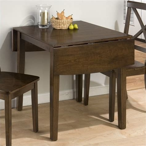 Jofran Double Drop Leaf Dining Table in Taylor Brown