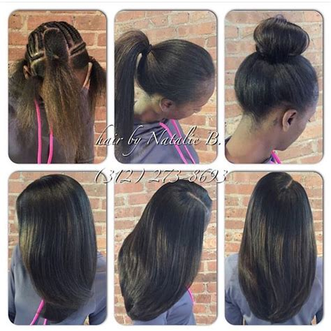 Looking Sew In Weave Hairstyles by Transitioning Series 1 Transitioning From Relaxed Or