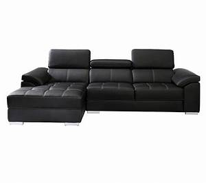 canape angle meridienne gauche artic polyurethane noir With canapé angle meridienne gauche