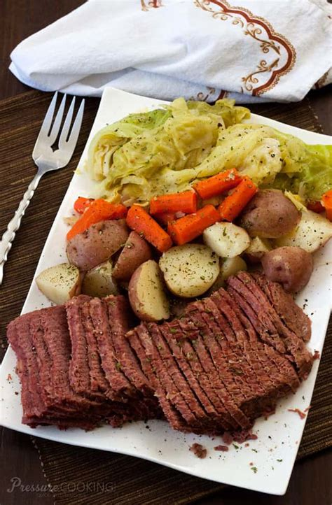 In this healthy corned beef and cabbage recipe, we cut back the sodium but kept the classic flavor profile of this st. Pressure Cooker (Instant Pot) Corned Beef and Cabbage Recipe
