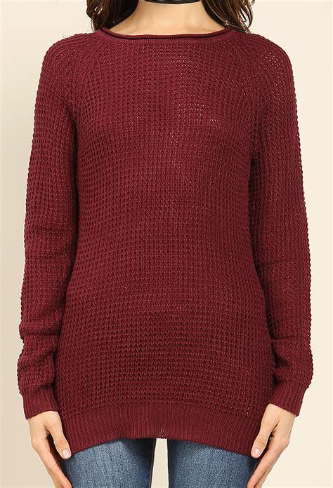 waffle knit sweater waffle knit sweater shop sweaters at papaya clothing
