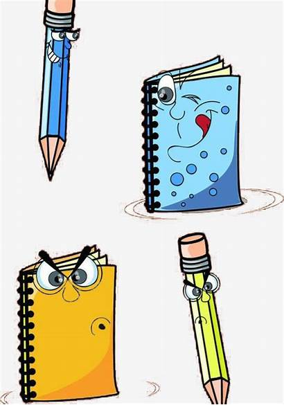 Cartoon Stationery Elements Clipart Pngtree