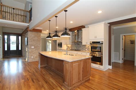 hickory kitchen island craftsman home design apex nc custom home stanton homes
