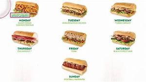 Subway Offers $3.50 Sub Of The Day Promotion - Chew Boom
