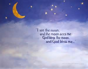 I See the Moon and the Moon Sees Me Poem