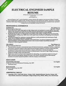 electrical engineer resume sample resume genius With sample resume of an electrical engineer