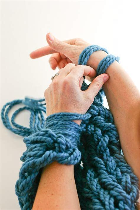 arm knitting   photo tutorial part  binding