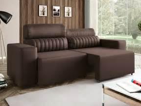 sofa em l viggore sof 225 retr 225 til e reclin 225 vel 4 lugares revestimento suede