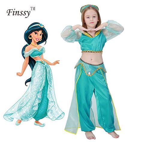 girls aladdins lamp jasmine princess costumes cosplay