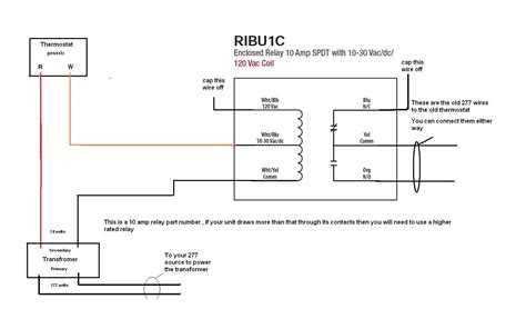 i have a 277v line voltage thermostat that i need to convert to a 24v low voltage system this