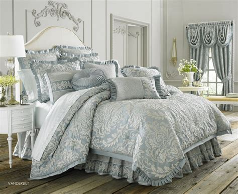 light blue and grey bedding glamour paisley flowers pattern light blue comforter sets