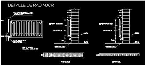 radiators details in autocad cad 35 79 kb bibliocad