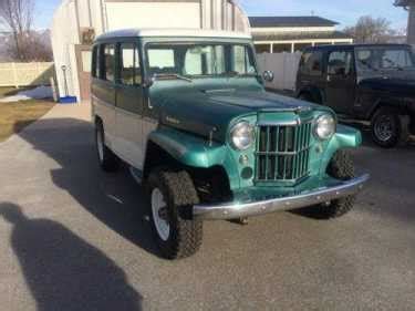 jeep willys station wagon green white  sale