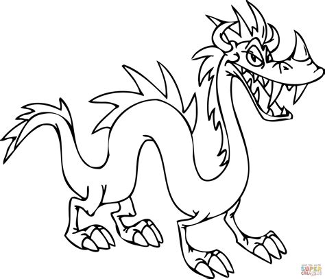 tricky dragon coloring page  printable coloring pages