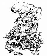 Gibbering Mouther Amoeba Monster Eyes Drawing Pile Manual Mouths Dungeons Dragons Ad Tsr Ii Horror Fantasy Getdrawings Scary Mouthers Cthulhu sketch template