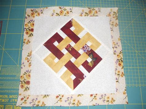 You Have To See Eternity Knot Paper Pieced Quilt Block On