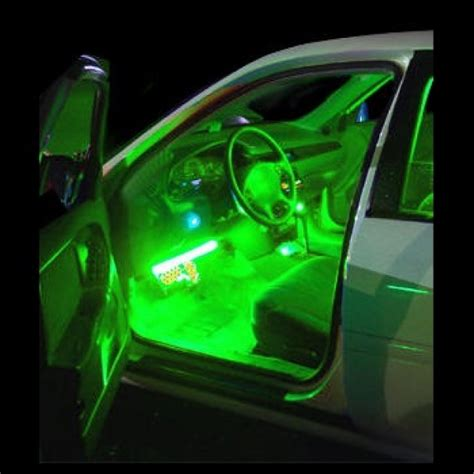 green light auto parts green interior led neon glow lighting kit flexible strips