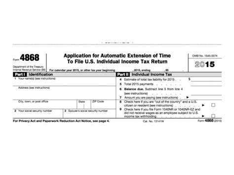 irs form 4868 extension for 2016 tax deadline oregon