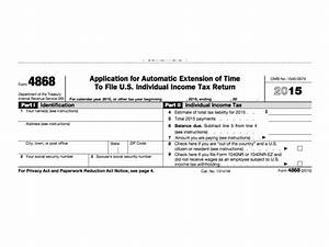 IRS Form 4868: Extension For 2016 Tax Deadline - Oregon ...