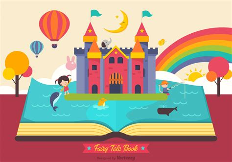 Fairy Tale Open Book Vector