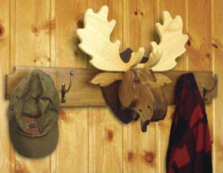moose head coat rack  trophy woodworking