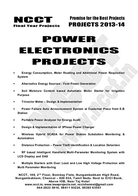 Embedded Systems Project List Non Ieee Based