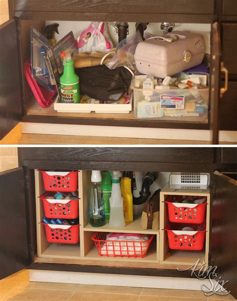 kitchen sink organization ideas sink cabinet before and after organization jpg 8696