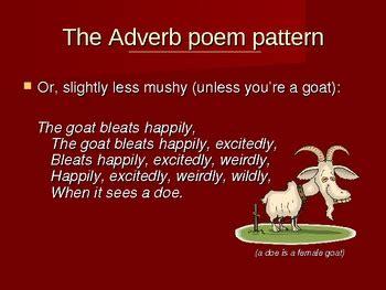 adverb poem  fun writing grammar activity
