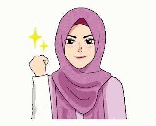 Gambar Animasi Bergerak Muslimah Cantik Sarjana Pesantren