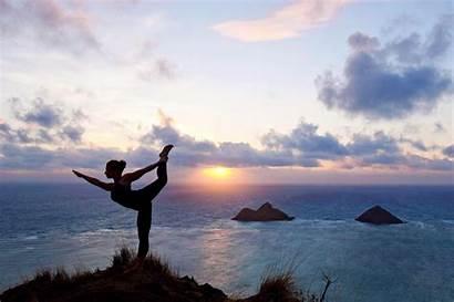 Yoga Poses Outdoor Sunrise Others Pose Ommmm