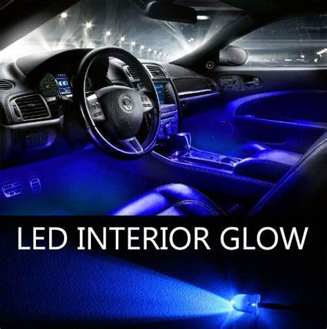 blue led lights  pack interior glow lighting car truck