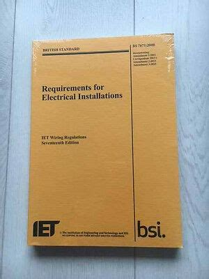iet wiring regulations bs 7671 17th edition 3rd amendment iet bs7671 2015 book 163 34 00
