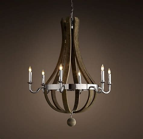 wine barrel 6 arm chandelier polished nickel chandeliers