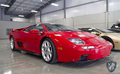 red lamborghini diablo  connoisseur detail leather