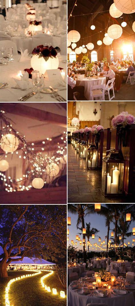 ways  light  wedding receptions