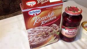 Dr Oetker Werksverkauf : kirschli kuchen von dr oetker backmischung youtube ~ Watch28wear.com Haus und Dekorationen