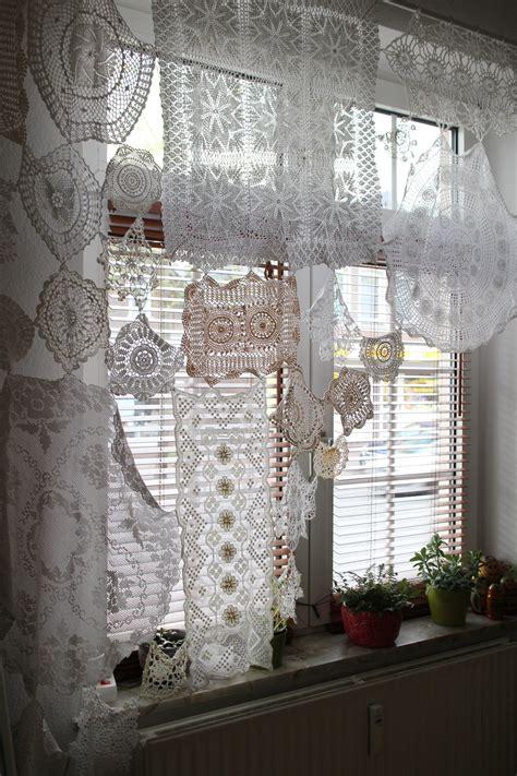 upcycling gardine aus haekeldeckchen handmade kultur