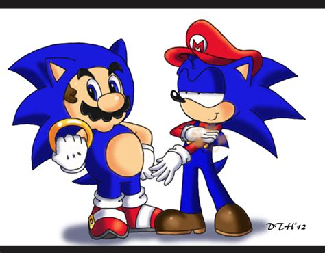 Mario And Sonic Switch Outfits By Domestic Hedgehog On