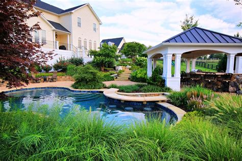 Deck Bar Mt Airy Md by Free Form Swimming Pool With Built In Bar And Water Features